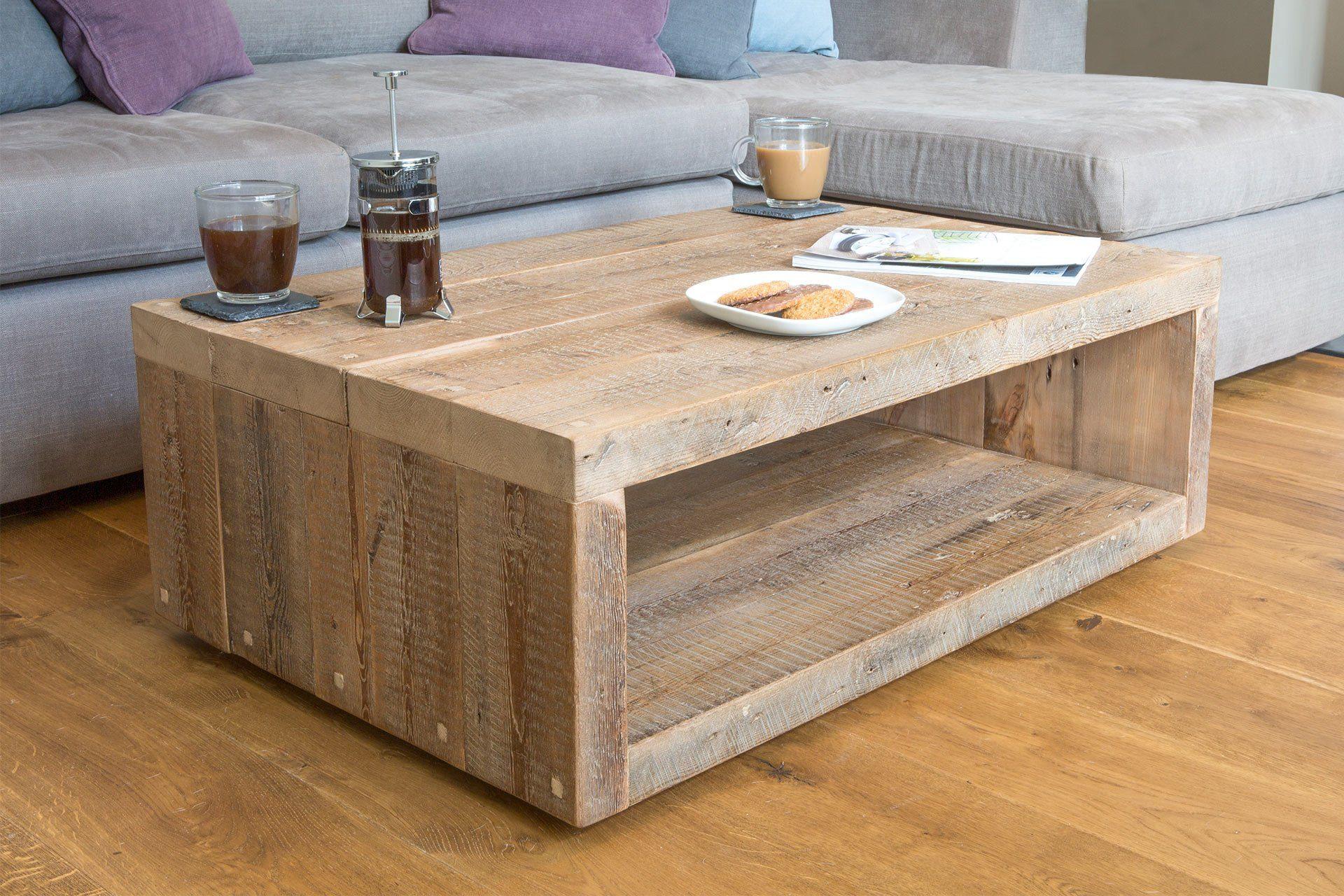 Natural 90cm X 60cm Coffee Table