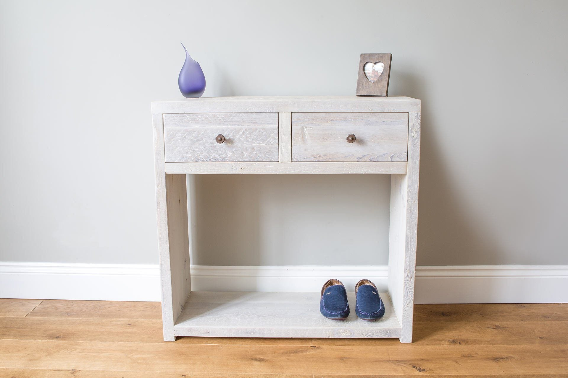 Grey 95.5cm Console Table With Antique Knobs