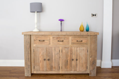 Natural 179.5cm Sideboard With Antique Handles & Knobs