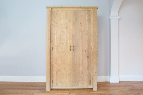 Natural 122cm Wardrobe With Antique Handles