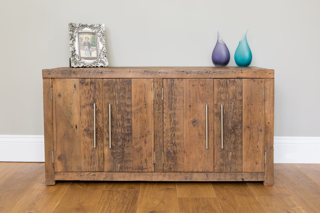Warm 116.5cm Low Cabinet With Bar Handles