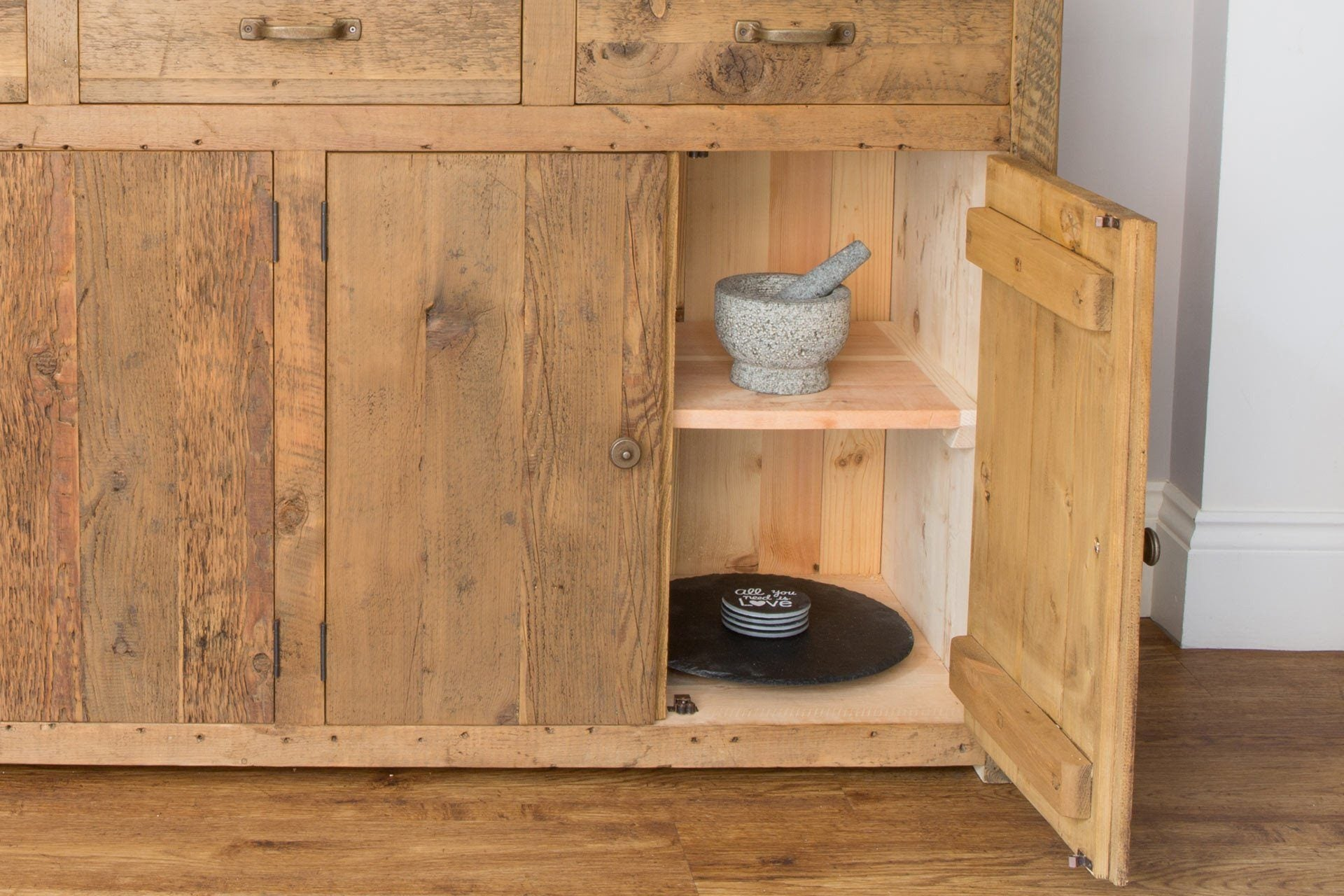 All Sideboards Come With A Full Width Internal Shelf (Adjustable)