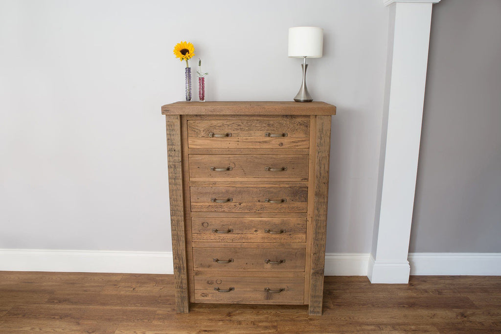 Warm 91.5cm Chest With 6 Drawers & Antique Handles