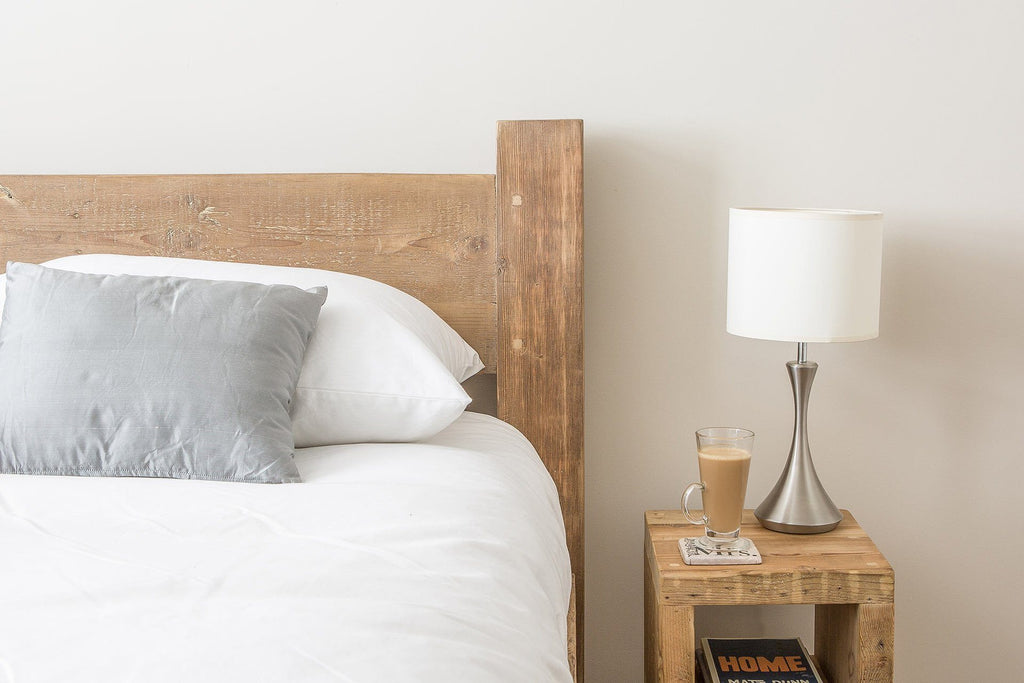 Natural Kingsize Bed Headboard With Slim Branson Bedside