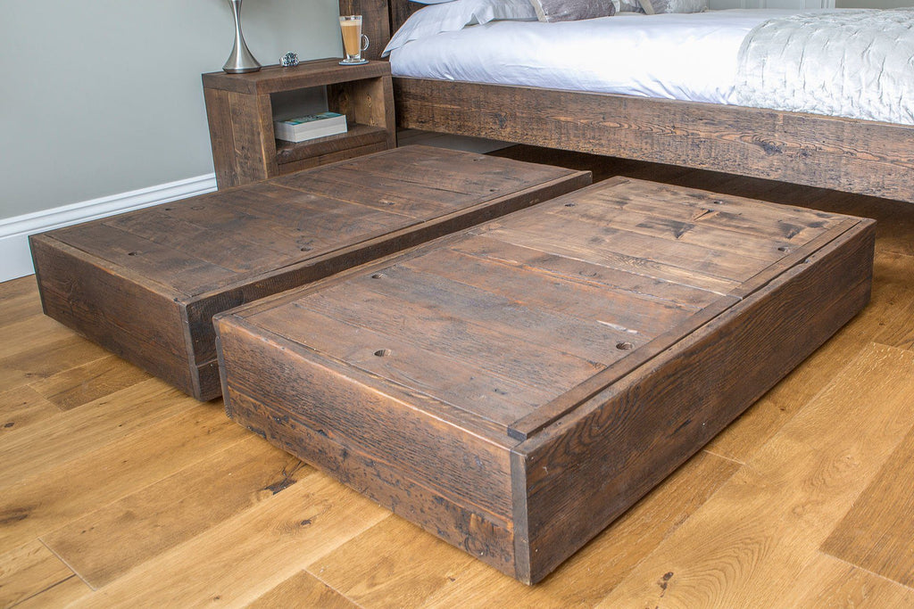 Underbed storage sliding chests harringay online for Wooden attic box bed