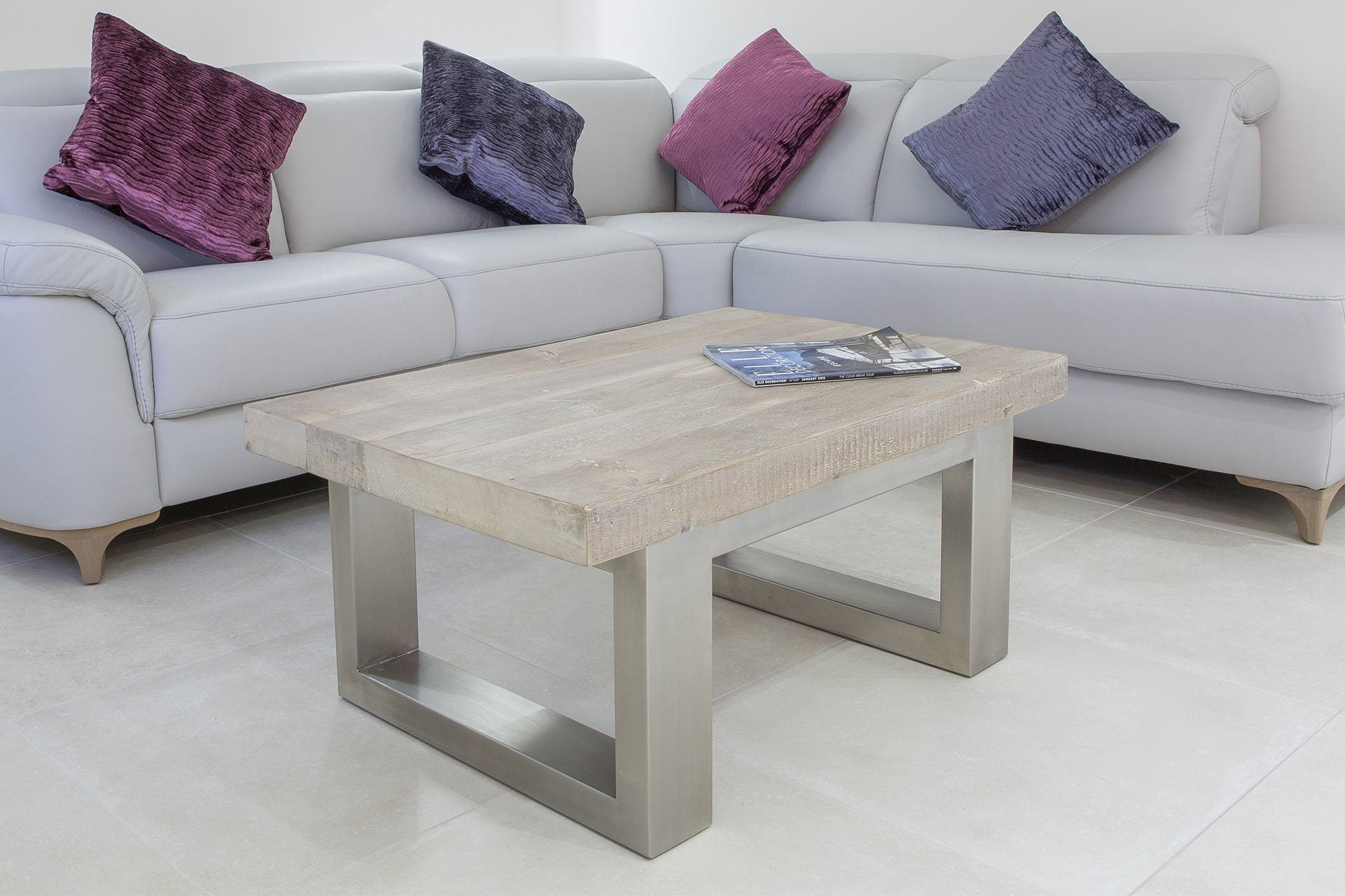 Grey 90cm x 60cm Coffee Table