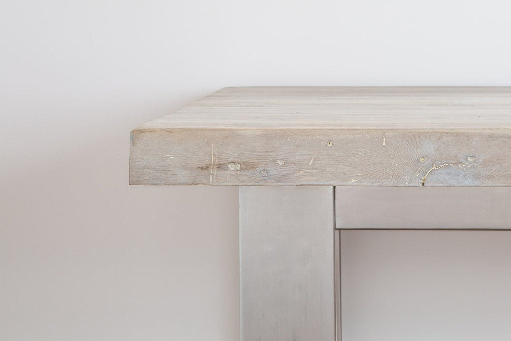 Grey Short Overhang Table Detail
