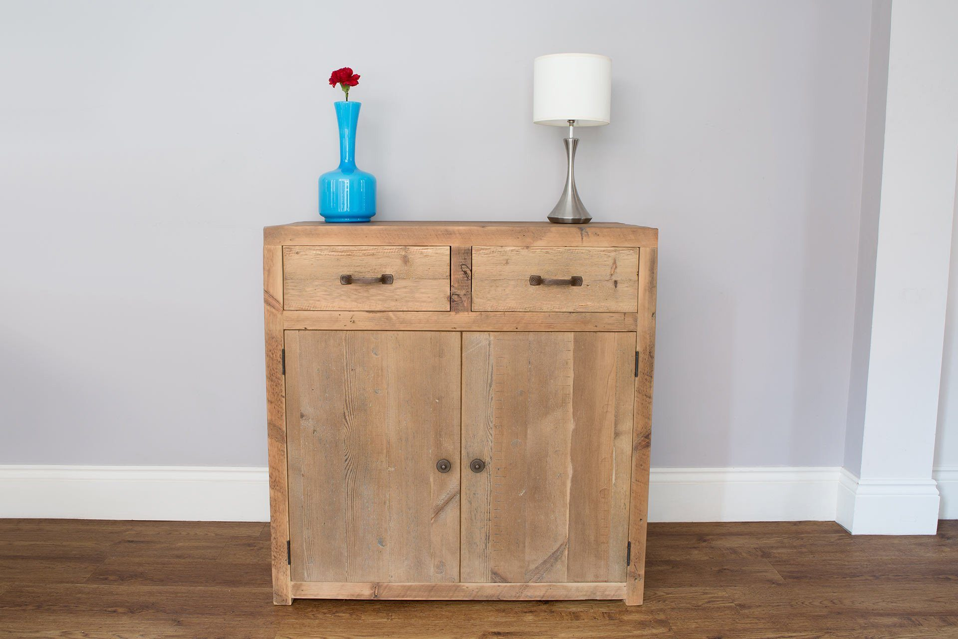 Natural 90.5cm Sideboard With Antique Handles & Knobs