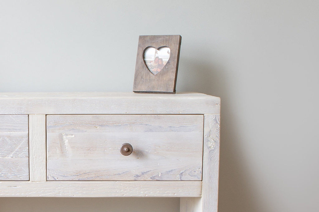 Grey Console Table Close Up