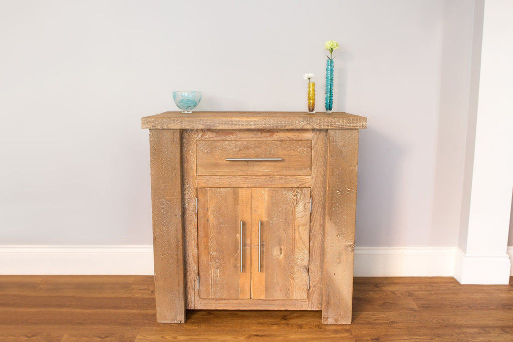 Natural 88.5cm Sideboard With Bar Handles