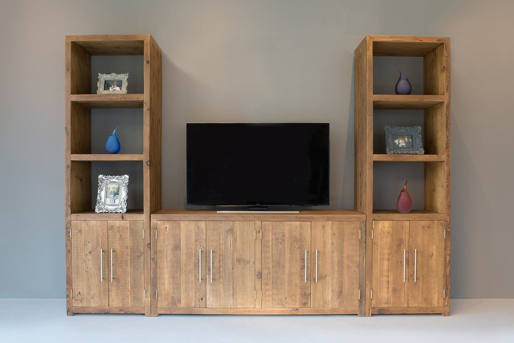Natural 116.5cm Cabinet With 60.5cm Entertainment Units (Sold Separately)