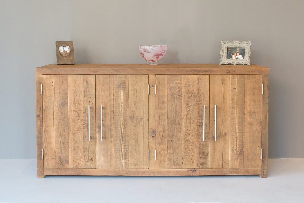 Natural 116.5cm Cabinet With Bar Handles