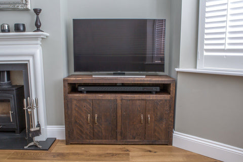 rustic reclaimed solid wood tv stands
