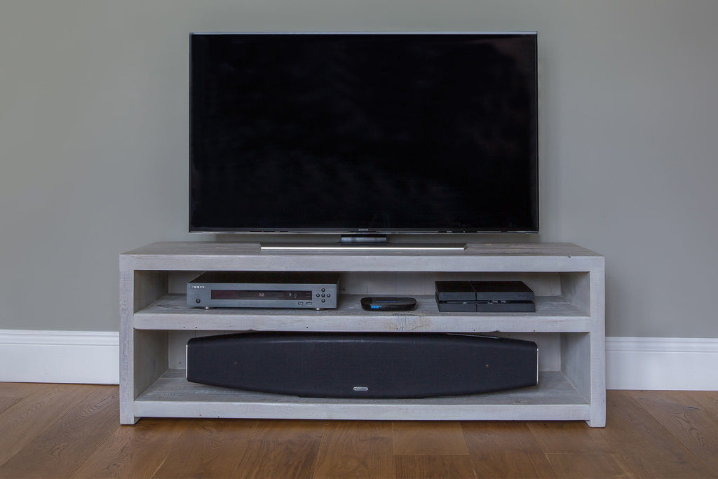 "Grey 136.5cm TV Stand (Displayed With 48"" TV)"