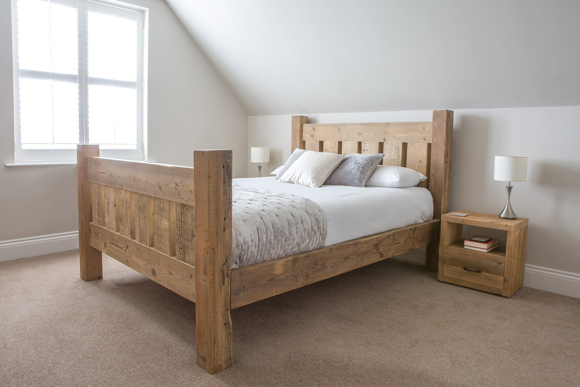 Natural Kingsize Bed With Branson 1 Drawer Bedsides (Sold Separately)