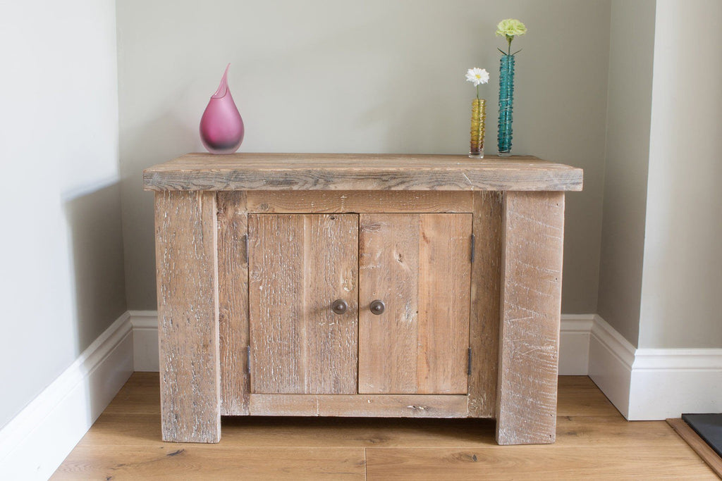 Natural 88.5cm Low Cabinet With Antique Knobs