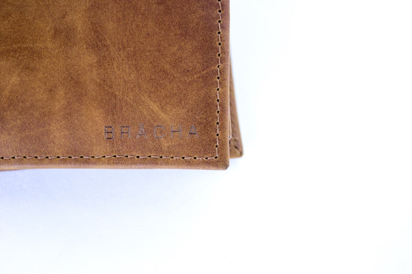 Brächa Design Timo Wallet Leather Handmade Brown Elegant & Stylish