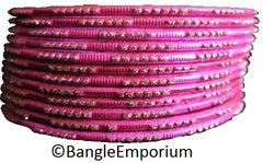 Antique Gold Glitter with Hot Pink Bangles (2.8/2.10)