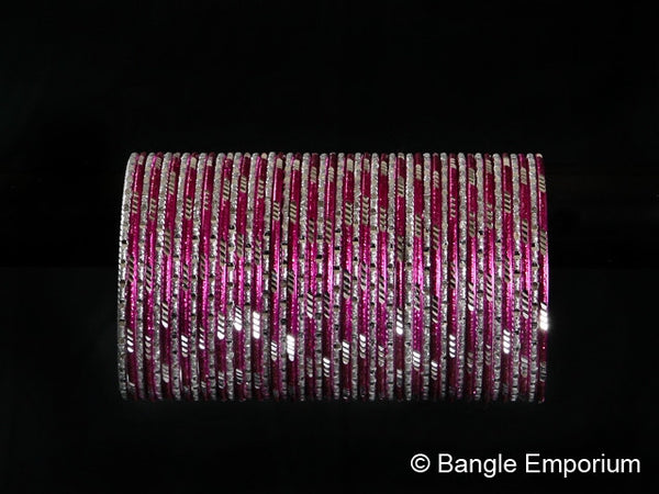 Deja Vu: Hot Pink and Silver Bangles (2.8)