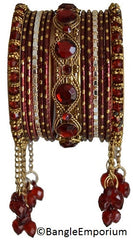 Cascade: Maroon Bangle set for Girls size (2.0 / 2.2 )