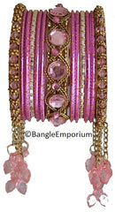 Cascade: Pink Bangle set for Girls size (2.0 / 2.2 )