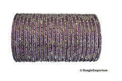 Maharani Collection: Lilac Silver Bangles (2.8 / 2.10 / 2.12)