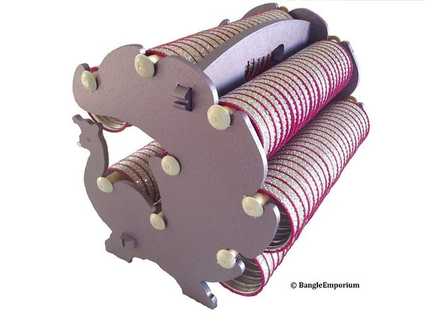 Peacock Designer Metallic Purple Bangle Rack Bracelet Organizer