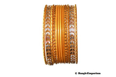 Yellow bangles 2.4 2.6 Metal Indian bracelets