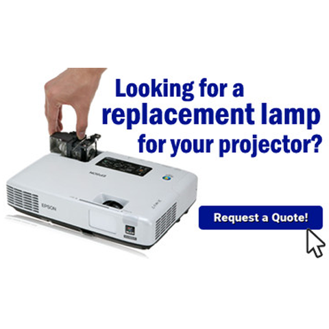 Looking for a replacement lamp for your projector? Request a quote!