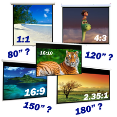 Choosing the right size for my projection screen