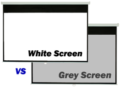Choosing between White or Grey projection screen fabric