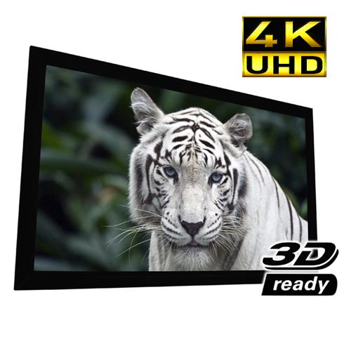 100″ 16:9 Reference PureBright 4K White Fixed-Frame Screen 2.4 Gain - 13-0205 - Mounts For Less