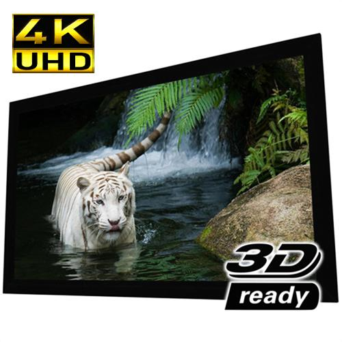 "100"" 16:9 Reference Studio 4K Fixed-Frame Screen White - 13-0192 - Mounts For Less"