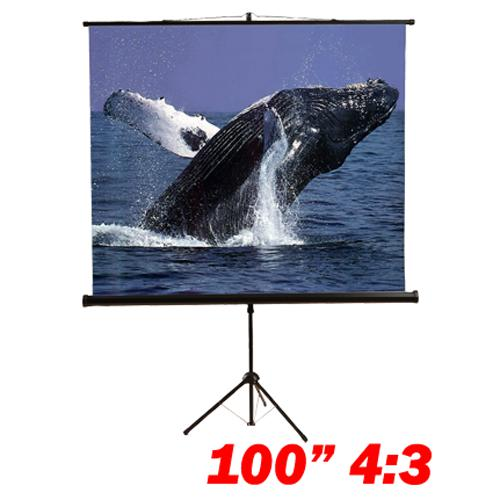"100"" 4:3 Tripod compact projection screen B - 13-0084 - Mounts For Less"