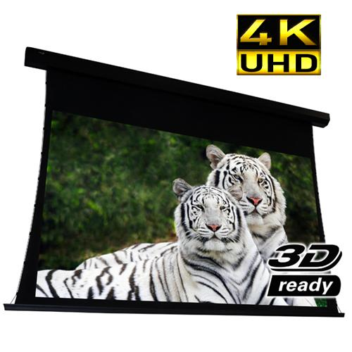 "112"" 16:9 Electric Projection Screen Reference Studio AudioWeave 4K ""Tab-Tensioned"" White - 13-0239 - Mounts For Less"