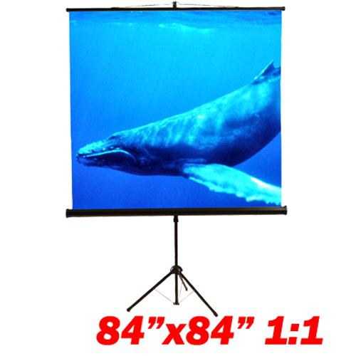 "119"" 1:1 Tripod compact projection screen 84X84"" B - 13-0083 - Mounts For Less"