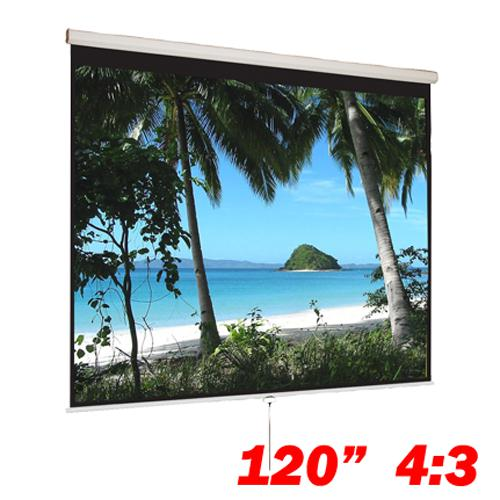 "120"" 4:3 Manual Projection Screen Soft PVC white - 13-0074 - Mounts For Less"