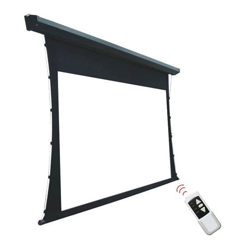 "128"" 16:9 Electric Tab-Tensioned Projection Screen Matte White - 13-0058 - Mounts For Less"