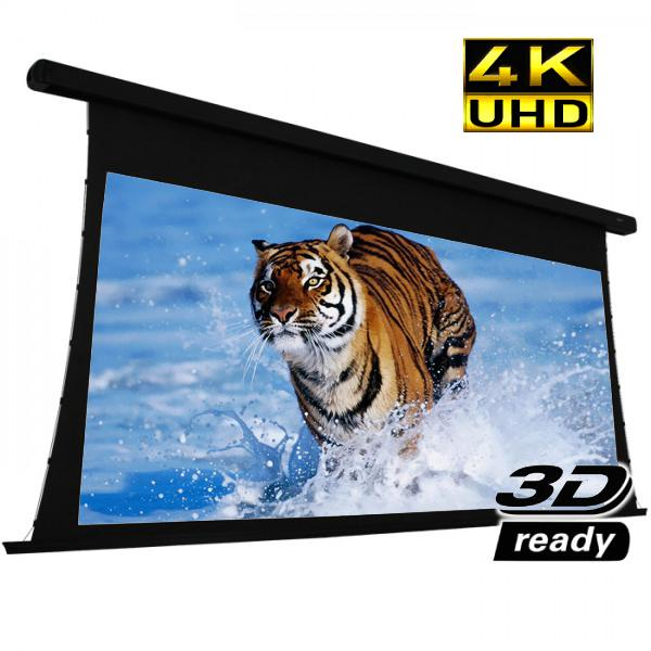 "130"" 2.35:1 Electric Projection Screen Reference Studio 4K ""Tab-Tensioned"" White - 13-0245 - Mounts For Less"