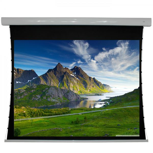"135"" 4:3 Electric Tab-Tensioned Projection Screen White - 13-0136 - Mounts For Less"