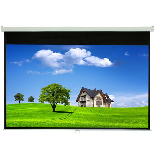"84"" 16:9 Manual Projection Screen Soft PVC white - 13-0125 - Mounts For Less"