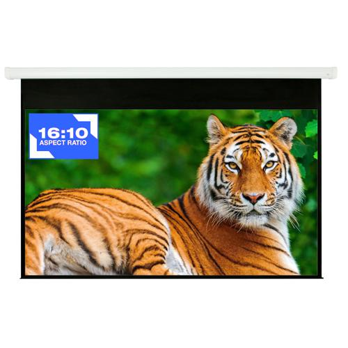 "94"" 16:10 Electric Projection Screen Matt White With Remote - 13-0131 - Mounts For Less"