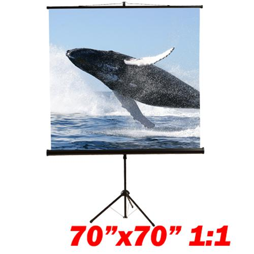 "99"" 1:1 Tripod compact projection screen 70X70"" B - 13-0078 - Mounts For Less"