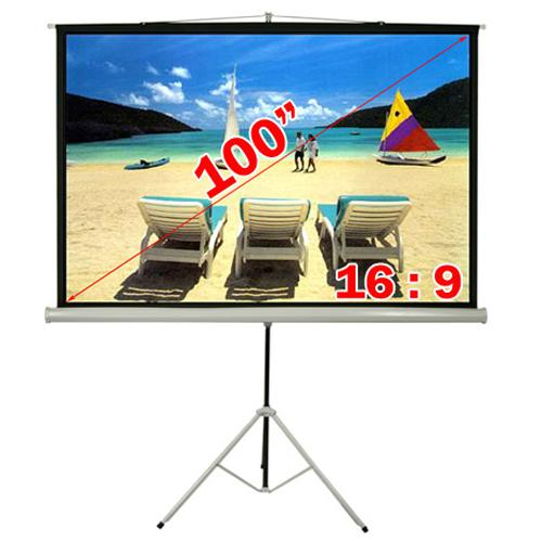 "Antra 100"" Tripod compact projection screen 16:9 - 13-0011 - Mounts For Less"
