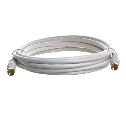 Coaxial cable 10ft RG-6 White M/M - 35-0074 - Mounts For Less