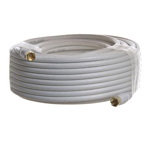 Coaxial cable 50ft RG-6 White M/M - 35-0025 - Mounts For Less