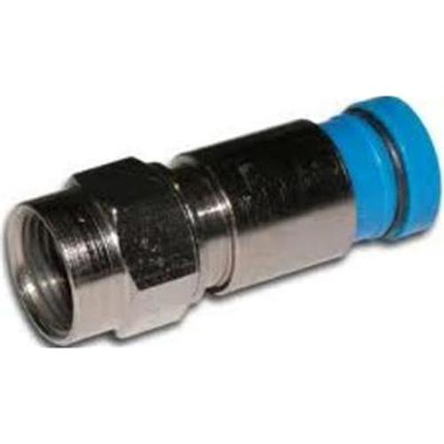 Compression connectors F-Type for RG-6 coaxial Blue 10pk - 35-0047 - Mounts For Less
