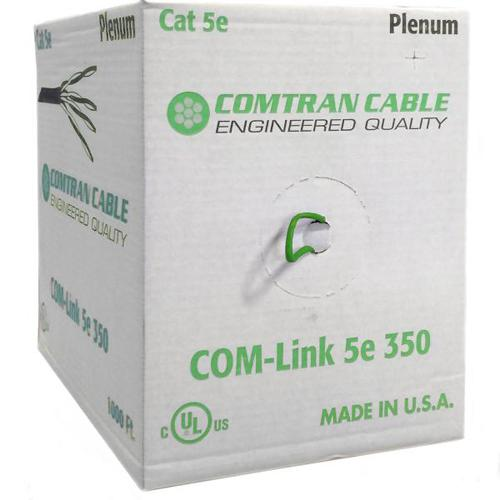 Comtran Network Cable Cat5e UTP FT6/CMP Solid Plenum Green 1000' - 89-0373 - Mounts For Less
