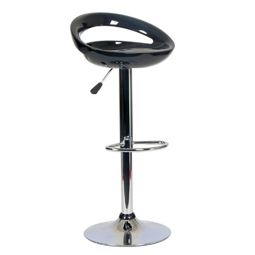 Contemporary Bar Stool Swivel & Adjustable Chrome & Black - 36-0004 - Mounts For Less