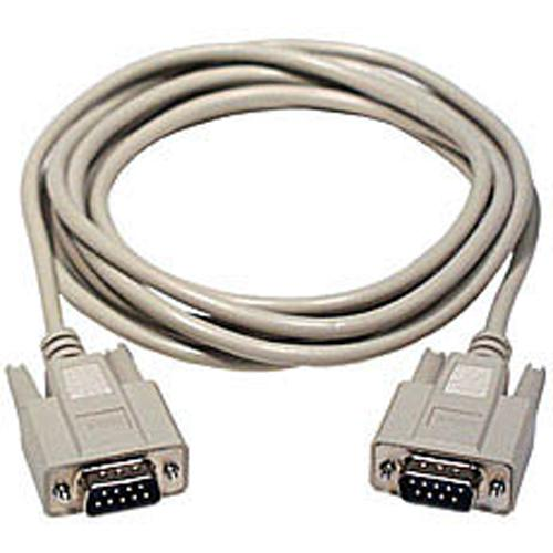 DB9 male to DB9 male cable 25ft Gray - 99-0059 - Mounts For Less